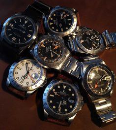 Luxury Watches, Rolex Watches, Cool Watches, Watches For Men, Rolex Explorer Ii, Vintage Rolex, Omega Watch, Orange, The Originals