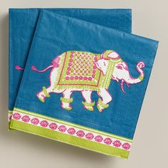 Our Elephant Beverage Napkins are printed with our exclusive artwork featuring a playful Indian elephant. Add colorful flair to drinks or dessert with these affordable napkins. Baby Shower Themes, Baby Boy Shower, Baby Shower Decorations, Baby Shower Gifts, Shower Ideas, 9th Birthday Parties, 5th Birthday, Indian Elephant, Elephant Baby