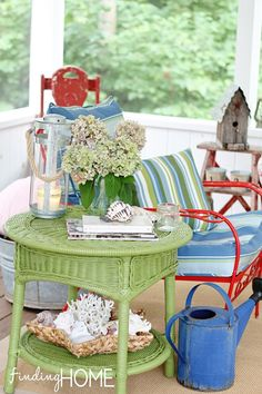Spray Paint Furniture to Add Color