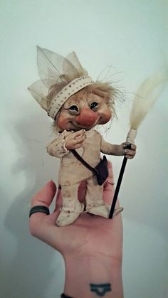 Hey, I found this really awesome Etsy listing at https://www.etsy.com/listing/233267808/pud-ooak-wildling-brownie-fae-poseable