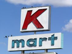 Old school Kmart! Blue light special my first job : ) My Childhood Memories, Sweet Memories, Vintage Signs, Vintage Ads, Vintage Stores, Old Signs, Ol Days, The Good Old Days, Old School