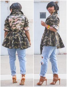 Outfit Idea Posted 👅 on Sweenee Style!🤗 I even got PLUS SIZE in the jacket (up to 💕(link in bio) Camo Fashion, Winter Fashion Outfits, Denim Fashion, Autumn Fashion, Girl Fashion, Camo Outfits, Sexy Outfits, Casual Outfits, Pretty Outfits