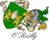 O'reilly Irish Sept Coat of Arms from the website  www.4crests.com #coatofarms #familycrest #familycrests #coatsofarms #heraldry #family #genealogy #familyreunion #names #history #medieval #codeofarms #familyshield #shield #crest #clan #badge #tattoo