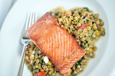 Seared Salmon with Summer Lentils  |  The Weeknight Society