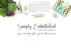 Styled Stock Photo - Desktop Mockup by Simply Embellished on @creativemarket