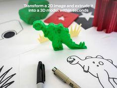 MakerBot PrintShop by MakerBot Industries.  Transforms a 2D mage into a 3D model.