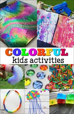 Kids can explore and learn about color with these colorful kids activities. The most colorful crafts, art and learning activities around.