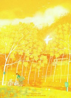 Art in yellow Yellow Art, Mellow Yellow, Fantasy Places, Shades Of Yellow, Children's Book Illustration, My Favorite Color, Animation, Abstract, Drawings