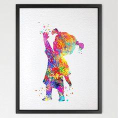 Dignovel Studios 8X10 BOO Monsters Inc Watercolor Print Kids Art Nursery Decor Wall Poster Giclee Wall Hanging Disney Art Wedding Gift Baby Shower N393