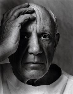 Pablo Picasso, Vallauris, France, 1954  ARNOLD NEWMAN