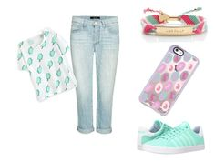 bunny by r2005g on Polyvore featuring moda, J Brand, K-Swiss, Kate Spade and Casetify