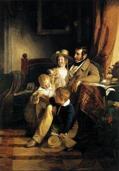Friedrich von Amerling (1803-1887)  Rudolf von Arthaber with his Children