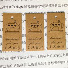 Aliexpress.com : Buy Free shipping wholesale DIY ZAKKA homemade Kraft paper tags bookmark mood message card sewing machine 100pcs/lot 58x28x0.3mm from Reliable paper cup printing machine suppliers on Lucky Zakka  | Alibaba Group
