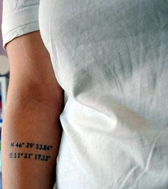 coordinates tattoo Ideas to Mark a Memory on Body (17)
