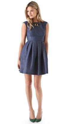 Shoshanna Alyce Pleated Dress