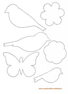 Awesome classroom decoration ideas for grade 3 Felt Crafts, Easter Crafts, Diy And Crafts, Crafts For Kids, Bird Template, Flower Template, Felt Patterns, Applique Patterns, Decoration Creche