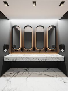 bathrooms Concept main idea is a direct and convenient connection between the two wings of the floor Wc Design, Toilet Design, House Design, Office Interior Design, Bathroom Interior Design, Home Interior, Interior Livingroom, Interior Plants, Interior Architecture