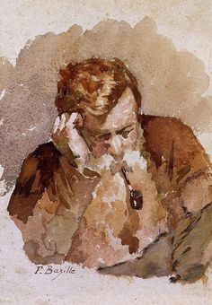 """""""Man with a Pipe, Frederic Bazille """""""
