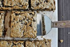 Oatmeal peanut butter snack squares.