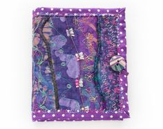 Wisteria Needle Book  Gift for a person who likes by StripyKite