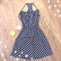 ❗️SALE❗️548 Blue & White Polkadot Dress Size Medium, but fits a bit small!   Need any other information? Measurements? Materials? Feel free to ask! Don't be shy, I always welcome reasonable offers! Fast shipping! Same or next day! Sorry, no trades!   Happy Poshing!☺️ 548 Dresses