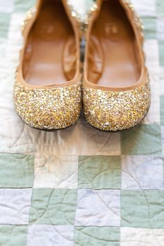 Gold Wedding Flats for my beautiful bridesmaids