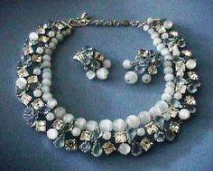 Vintage Christian Dior 1959 Moonstone Aqua Necklace Earrings Exquisite    eBay e63b762d162