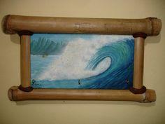 óleo sobre madeira / bambu