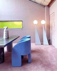 Studiopepe Went Full Mystic For Milan Design Week - Sight Unseen Dining Room Paint Colors, Dining Room Art, Geometric Furniture, Design Furniture, Furniture Board, Nice Furniture, Cheap Furniture, Furniture Ideas, Studio Pepe