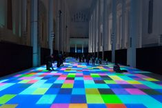 """Magic Carpets"" is an elaborate installation by Miguel Chevalier in which the French artist transformed a former church space into a mesmerizing spectacle of sound and lights.- My Modern Metropolis"