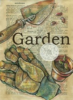 illustrated dictionary page | garden