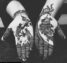 Easy and Simple Mehndi Designs That You Should Try In 2020 - Tikli Palm Mehndi Design, Peacock Mehndi Designs, Henna Art Designs, Stylish Mehndi Designs, Mehndi Designs For Beginners, Modern Mehndi Designs, Mehndi Designs For Girls, Mehndi Design Photos, Wedding Mehndi Designs