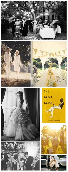Great Gatsby wedding style...o to the mg. If i were to ever have a wedding, which i wont, it would be gatsby inspired