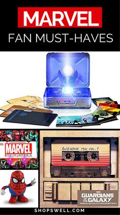 Fans of Marvel will love this collection of great gift ideas.