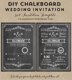 FREE Wedding Invitation Template via ahandcraftedwedding.com. #wedding #invitation #vintageposter                                                                                                                                                      More