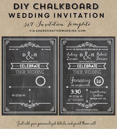 FREE Wedding Invitation Template via ahandcraftedwedding.com. #wedding #invitation #vintageposter                                                                                                                                                      More