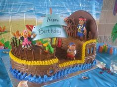 Fantastic pirate boat cake.  Picture via http://cakecentral.com/user/erica324