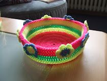 Colorful Basket from My World of Crochet!