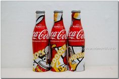 Euro 2012 Coca-Cola Aluminium  bottle set from Spain. ☞ For more  http://cocacolaworld.co.kr/140176880051