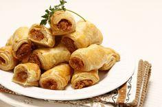 Receita de Folhadinhos de farinheira. Descubra como cozinhar Folhadinhos de farinheira de maneira prática e deliciosa com a Teleculinaria!