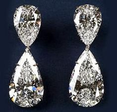 Harry Winston's Extraordinary Diamond Drop Earrings are the world's most expensive earrings ever created by the House of Winston in this pair of pear-shaped, diamond earrings weighs in at carats altogether. Bling Bling, Diamond Drop Earrings, Diamond Jewelry, Diamond Stud, Hope Diamond, Dragonfly Jewelry, Cartier Jewelry, Silver Jewelry, Vintage Jewelry