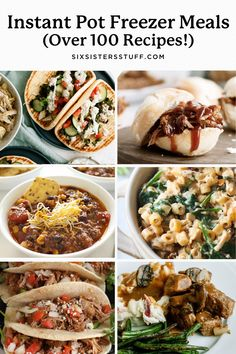 100+ of the BEST Instant Pot Freezer Meals Recipes Instant Pot Pressure Cooker, Pressure Cooker Recipes, Slow Cooker, Pressure Cooking, Easy Freezer Meals, Freezer Cooking, Crockpot Meals, Freezer Recipes, Easy Summer Dinners