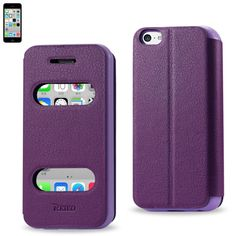 Reiko Fitting Case Lychee Pattern For Iphone5C Purple