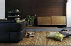 alfombra de madera