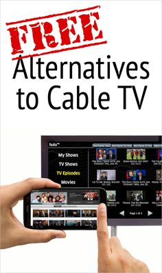 """Nervous about """"cutting the cord"""" and getting rid of cable TV? There are many free alternatives to cable and we talk about them in depth here. Tv Without Cable, Gary Burton, Cable Tv Alternatives, Free Internet Tv, Free Tv And Movies, Tv Hacks, Amazon Prime Movies, Free Tv Channels"""