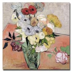 Vincent van Gogh, 'Roses and Anemones, 1890'