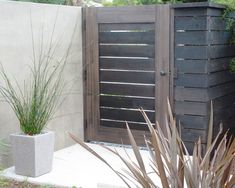 Out of all the cedar fence gate designs out there, this gorgeous, rustic wooden fence is the perfect touch as an entranceway to the garden! Fence gate ideas and design. Wooden Fence Gate, Fence Gate Design, Fence Doors, Cedar Fence, Diy Fence, Fence Gates, Wood Fences, Pallet Fence, Fence Art