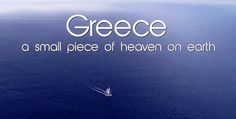The Greek National Tourism Organization (GNTO) has launched a four-minute video with images from all over Greece and takes us on a journey through the country's… Greek Memes, Greek Quotes, Corfu Greece, Greece Trip, Greece Hotels, Greece Holiday, Words To Describe, My Heritage, Heaven On Earth