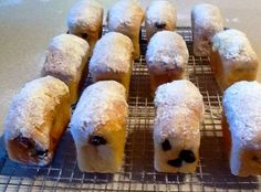Mini Stollen Loaves These little sweet treats are delicious to eat whilst they are still warm when the marzipan oozes out of the middle.