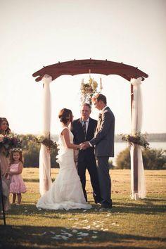 Simple rustic wedding arch #rusticwedding #love #marryyourbestfriend #woodweddingarch